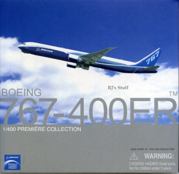RARE Boeing 767-400ER 1:400 Die-Cast Scale Model in the latest Boeing colours #55767 fm Dragon Wings