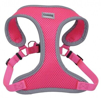 Coastal Pet Comfort Soft Reflective Wrap Adjustable Dog Harness - Neon Pink
