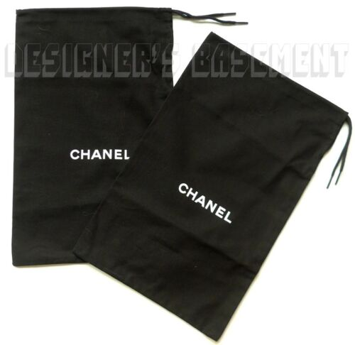 """Set of 2 CHANEL Dust Bags 7.5 x 12.5"""" for Flats Shoes or Clutch Purse NEW Authen"""