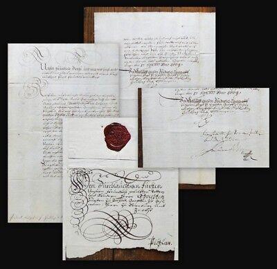 1664 Prinz von Homburg Friedrich II. Hessen Lebrecht Anhalt-Plötzkau Brief