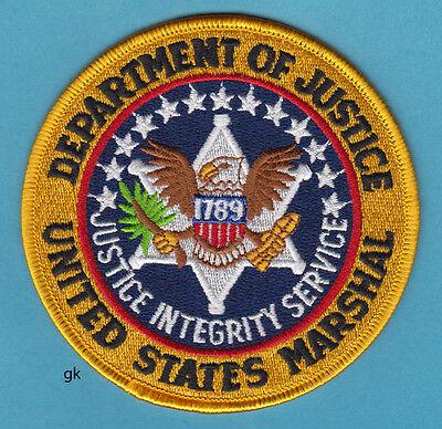 "US  MARSHAL DEPARTMENT OF JUSTICE SHOULDER PATCH (4"")"