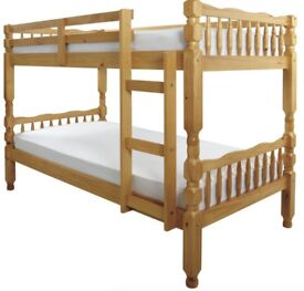 Solid, Brazilian Pine, Bunk Bed, ortho, Mattress,