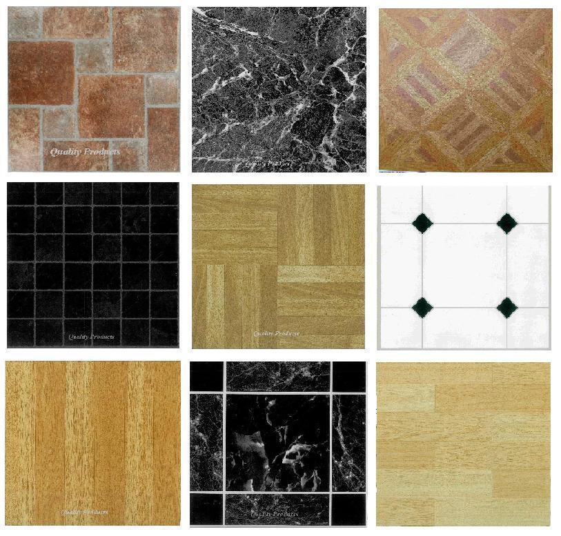 4 X Vinyl Floor Tiles Self Adhesive Bathroom Kitchen Flooring