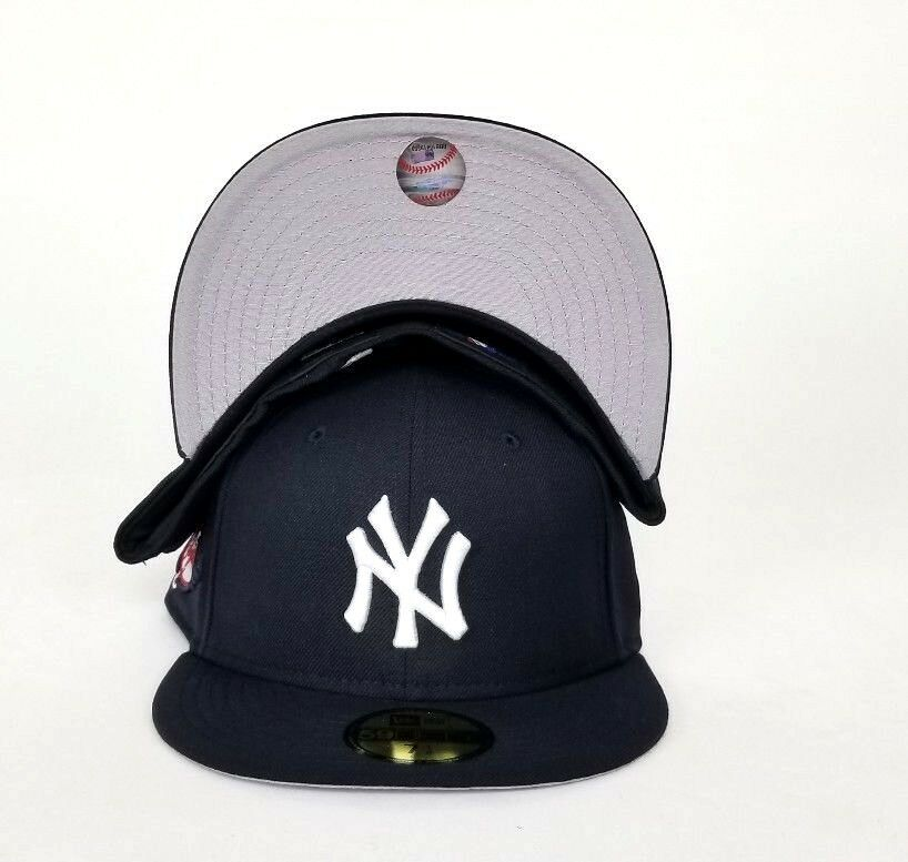 New Era New York Yankees 100th Anniversary Patch 59Fifty Fitted Hat Navy.  NEW ARRIVAL ! 27d1652d07af