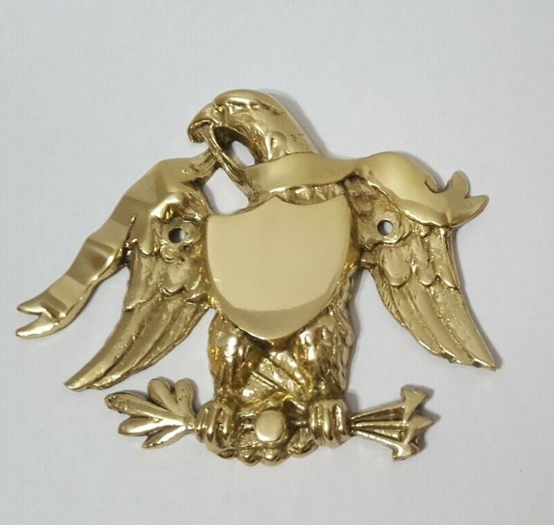 Great Seal of the United States of America solid cast Brass wall plaque, eagle