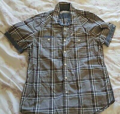 Burton Mens Check Short sleeved Shirt Size Medium Excellent Condition