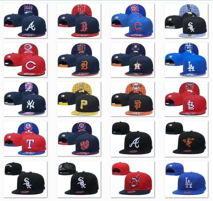 new embroidered mlb team baseball cap flat