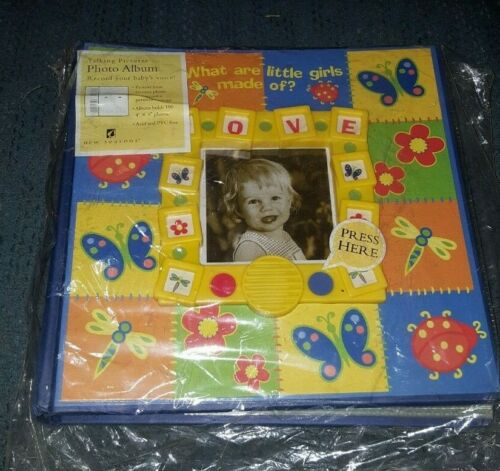 """ADORABLE Brand NEW Talking """"What are Little Girls Made of"""" Photo Album FREE Ship"""