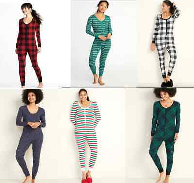 Old Navy thermal lounge One Piece Bodysuit long john leggings christmas pajamas Long John Pjs