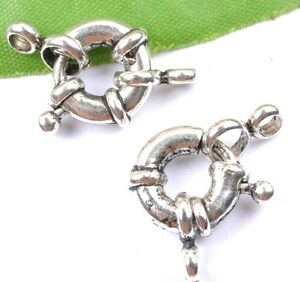FREE-SHIP-10pcs-Tibetan-silver-Spring-Ring-Clasp-Jewelry-Findings-12MM-JK1154