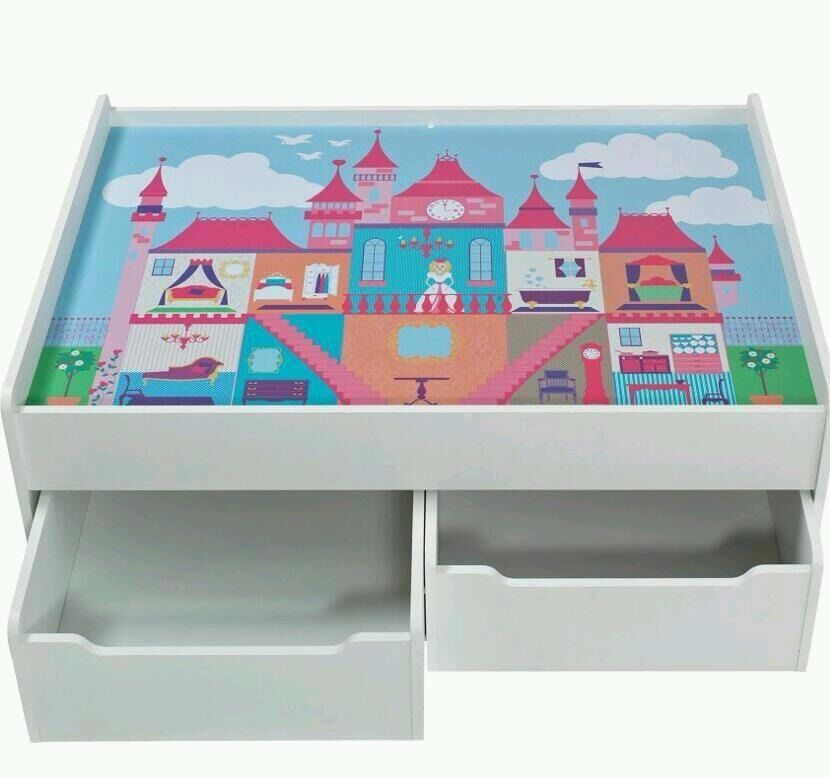 Princess girls play train table with storage toy (EX-DISPLAY)
