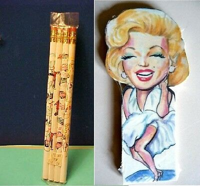 7 Year Itch Bookmarks Marilyn Monroe + 4 pencils of the 50's