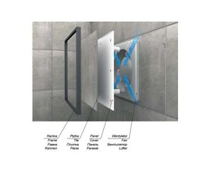 Tiled Bathroom Extractor Fan 125mm 5 Timer Humidity Sensor Humidistat Wi125h