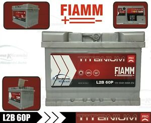 l2b60p batteria auto fiamm titanium plus 60ah 600a dx. Black Bedroom Furniture Sets. Home Design Ideas