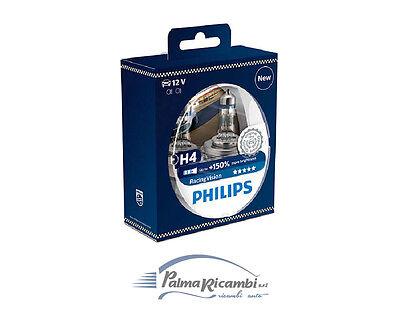 COPPIA LAMPADE PHILIPS H4 12V 55W RACING VISION +150% DI LUMINOSITA 12342RVS2