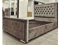 heaven plush velvet bed---mattress choice---grey colour