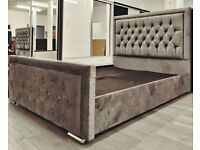 DESIGN FOR YOU-PLUSH VELVET HEAVEN BED IN DOUBLE AND KING SIZE