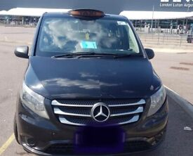 BLACK TAXI FOR RENT STREET CAB MERCEDES VITO (£130 P.W 7 shifts )