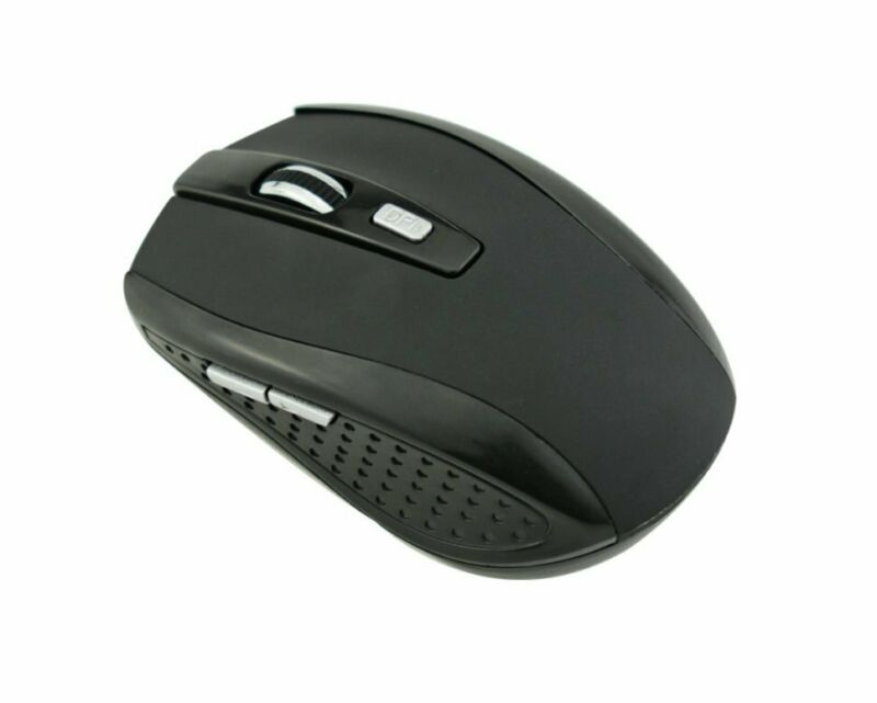Black Wireless Mouse Optical USB Laptop PC Computer 2.4GHZ DPI
