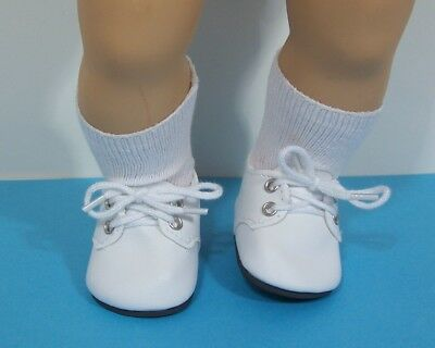 WHITE Dress Up or Casual Doll Shoes For 15
