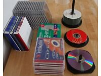 Blank CDs and cases