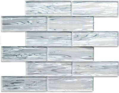 Mosaic Tile Backsplash Kitchen Bathroom Wall, Crystal Glass Subway Tile Polished