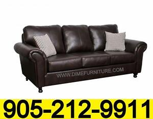 Leather air Canadian made sofa