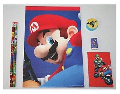 Nintendo Super Mario Kart wii Birthday Party school Supply 6 pcs sketchbook set