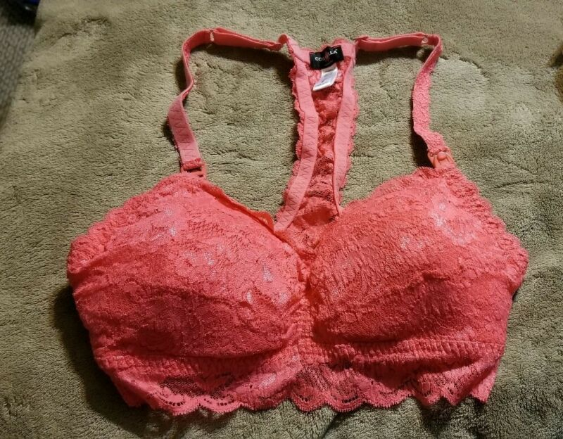 COSABELLA NEVER SAY NEVER MOMMIE RACERBACK NURSING BRA Coral SIZE M