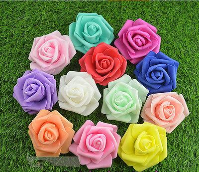 10-500PCS 6cm Foam Roses Artificial Flower Wedding Bride Bouquet Party Decor DIY - Foam Flower