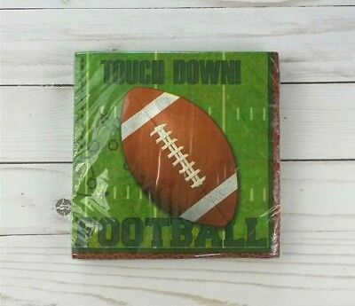 Paper Lunch Napkins 20 ct Party Football Tailgate Superbowl
