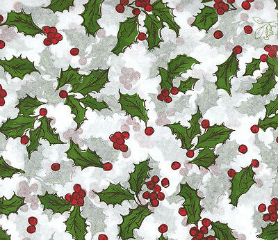 Holly Berries Christmas Tissue Paper # 743 ~ 10 Large Sheets ](Christmas Tissue Paper)
