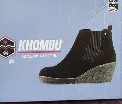 Womens Khombu Liz Boots Black Wedge Uk 5  New