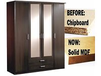 BUY - |* Brand New *| Large 3 DOOR GERMAN MADE WardrobeS In BeautiFull Colours + SAME DAY DELIVERY