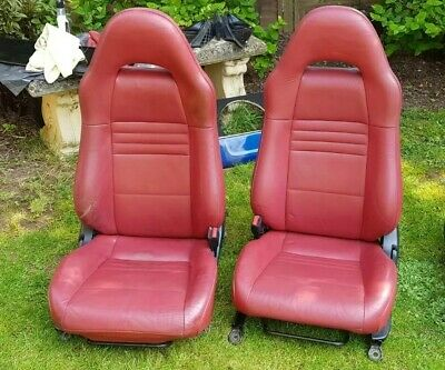 Toyota MR2 MK3 Roadster Facelift Red Leather Seats