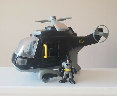 Fisher Price Imaginext DC Super Friends Batman Figure & Helicopter Batcopter