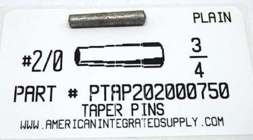"#2/0X3/4 TAPER PIN STEEL PLAIN .141"" LARGE END DIAMETER (10)"