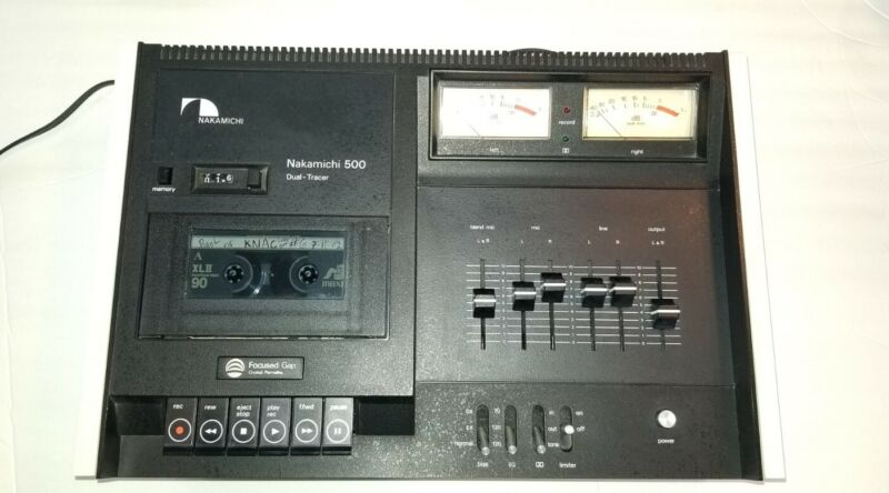 NAKAMICHI 500 CASSETTE DECK PLAYER DUAL TRACER RECORDER