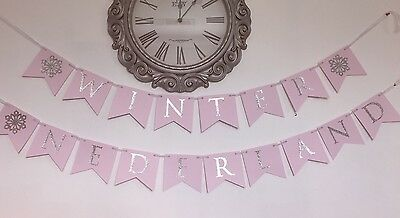 Winter Onederland First Birthday Banner Choose Colors](Winter First Birthday)