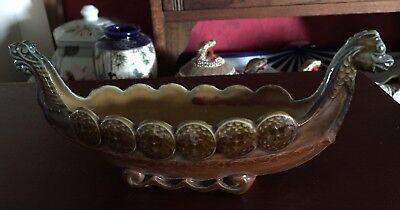 vintage Wade ceramic long boat