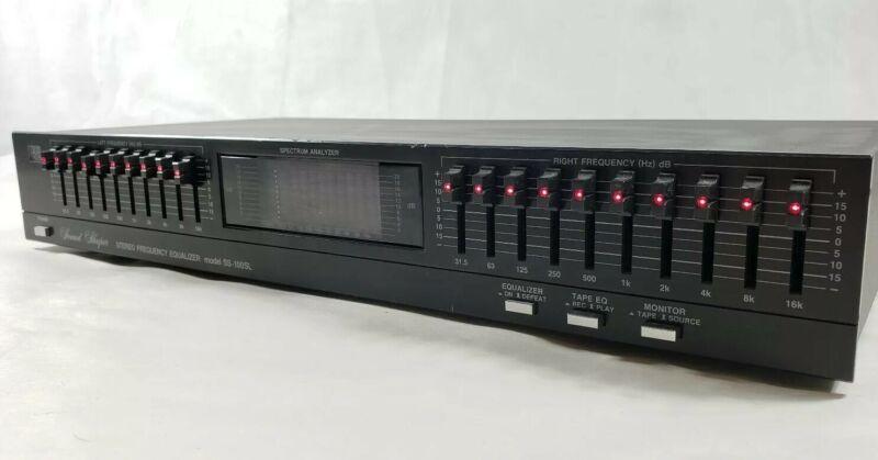 ADC Sound Shaper SS-100SL 10Ch Stereo Equalizer Spectrum Analyzer