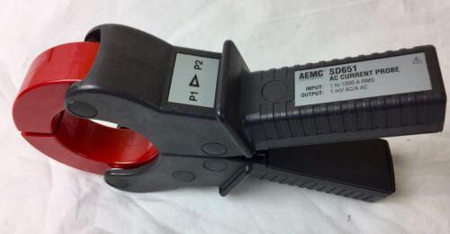 AEMC SD651 AC CLAMP PROBE 1000A  OUTPUT : 1mv/A