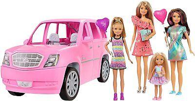Barbie Camper Rv Mattel Pop Up Pink Van 3 In 1 Dream Home Vehicle New Play Set