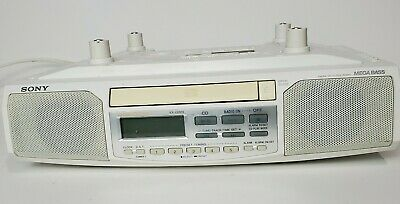 SONY #ICF-CD513 Under Cabinet Counter White Clock Radio AM/ FM/ CD Player