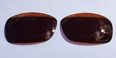 AMBER BROWN ENGRAVED POLARIZED REPLACEMENT OAKLEY HIJINX LENSES