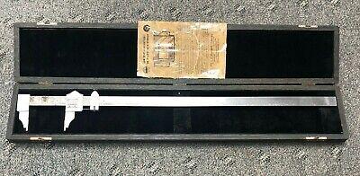 Starrett 25 Vernier Caliper With Storage Case No. 122