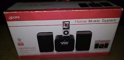 GPX Home Music System HM109B AM/FM Radio MP3 Dock Connector Line Input