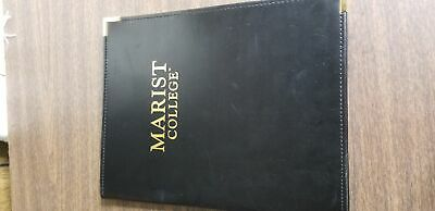 Mundi Black Leather Notepad Holder Pad From Marist College 12x9.5in