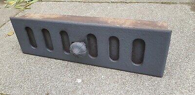 Very large original cast iron sliding air brick vent, 500mm X 150mm