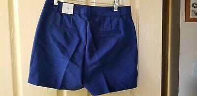 White House Black Market The 5 In Smooth Stretch Shorts Dark Blue Quartz Size 6 -